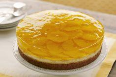 Cheesecake cítrico con capas de gelatina