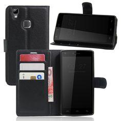 Caso del tirón del cuero de lujo de alta calidad para doogee x5 max/X5 Max Pro Smartphone Monedero Cubierta Del Soporte Con la Tarjeta titular