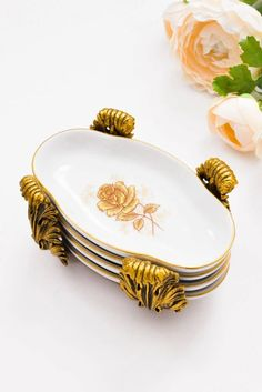 Vintage 1960s Mini Stacking Dishes from Sweet & Spark! Vintage Costume Jewelry, Vintage Costumes, Vintage Jewelry, White Dishes, New Today, Metal Finishes, Cleaning Solutions, Vintage Home Decor, Chinoiserie