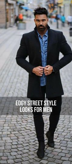 16 Edgy Casual Street Style Outfits For Guys — Casual outfits for guys. Casual street style for men Great Mens Fashion, Mens Fashion Blog, Latest Mens Fashion, Mens Fashion Suits, Fashion Edgy, Fashion Photo, Fashion 101, Classy Mens Fashion, Fashion Styles