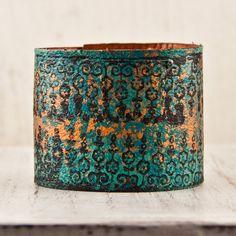 Leather Cuff Bracelet Handmade from a Vintage Belt - $65 - http://www.rainwheel.etsy.com