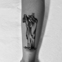 The Hermit by @ spacehustle #blackwork #tarrot #spacehustle #travel #tattoo #la #oc