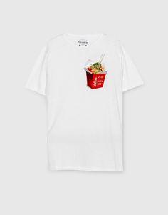 T-shirt estampado bolso frontal - Blusas - Vestuário - Homem - PULL&BEAR Portugal