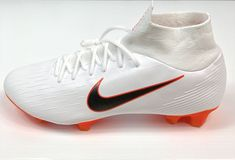 These cleats are B grade. There is a small marking on the inside of one shoe that is hardly noticeable, and not noticeable when wearing them ( Marking shown in pic). Mens Soccer Cleats, Soccer Shoes, Nike Shoes, Nike Soccer, Fc Barcelona Neymar, Cristiano Ronaldo Lionel Messi, Soccer Girl Problems, Manchester United Soccer, Superfly