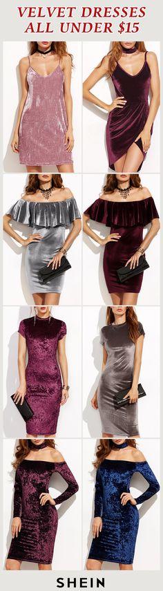Velvet dresses all under $15