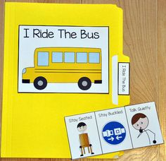 I Ride the Bus Folder Story - This folder story is a social story or social narrative that targets appropriate bus behavior. Use this folder story with students who have difficulty behaving appropriately on the school bus. Autism Activities, Autism Resources, Back To School Activities, Therapy Activities, School Ideas, Classroom Behavior, Autism Classroom, Classroom Management, School Bus Safety