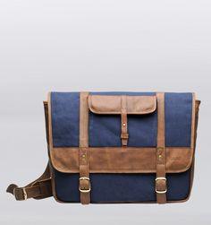 "Hasso Valero 15"" Laptop Messenger Bag - Navy Blue - Rushfaster.com.au Australia"