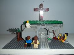 The Empty Tomb :: My LEGO creations. Mary and Mary meeting the angel at the empty tomb Lego Bible, Easter Crafts, Crafts For Kids, First Grade Crafts, Easter Garden, Catholic Crafts, Easter Religious, Minions, Easter Celebration