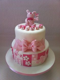 Sophie's christening cake:) xx - by Rachell @ CakesDecor.com - cake decorating website