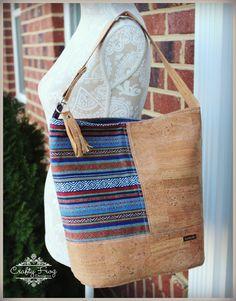 Peruvian Cork Bonnie Bag - Cork Leather - Ethnic bag - Bucket Bag - Cork leather bag - (90.00 USD) by CraftyFrogDesigns