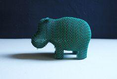 Hippo - salvadanaio realizzato in cartone ondulato
