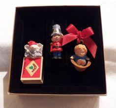 1979 QX1599 Hallmark Little Trimmer Set of 3 Ornaments | vintage hallmark collectibles artwork home decor belleek lalique