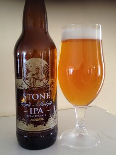 Stone Brewing Cali-Belgique is a 6.9 ABV 77 IBU Belgian IPA.  The appearance is golden orange and the nose yeast and citrus hop.  The flavor is sweet and Belgian yeast finishing with earthy citrus hop bitter. The mouthfeel is a little light and the carbonation moderate.  Stone is a top notch brewery with a very high bar so I'll say good, not great.  The lighter mouthfeel belies the big hop bitterness.  But it's still a well constructed combination of a Belgian ale and west coast style hop…
