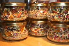 Thanksgiving Gift or Hostess Gift - Autumn Simmering Spice: Stovetop Potpourri with Dried Herbs, Flowers, Spices, Seeds, and Essential oils.  via Etsy.