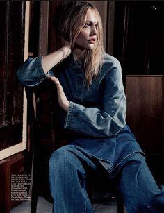 #SashaPivovarova by #CraigMcDean for #VogueUK March 2015