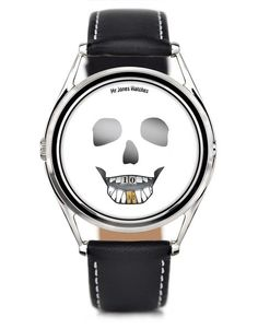 The Last Laugh. Skull face watch, front facing.