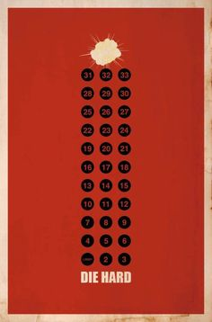 Die Hard - Cool Collection of Minimalist Movie Poster Art — GeekTyrant Movie Posters For Sale, Best Movie Posters, Minimal Movie Posters, Movie Poster Art, Cool Posters, Frames On Wall, Framed Wall Art, Wall Art Prints, Framed Prints