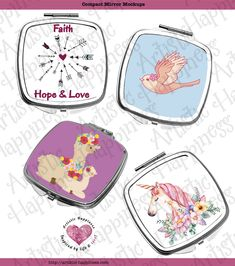 Customized Compact Mirror - I only have a small amount of these in stock. Great Mother's Day gift!