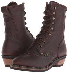 AdTec Women's Packer Boot 8'' Full-Grain Tumble Leather Chestnut 2173 (9.5)