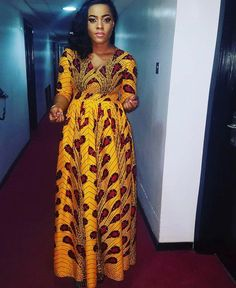 Unique Ankara Maxi Style: Feel The Beauty Of Different Styles And Designs Of The Ankara Fabric - Ankara collections brings the latest high street fashion online African Maxi Dresses, Ankara Dress, African Attire, Ankara Fabric, Ghanaian Fashion, Nigerian Fashion, Style Africain, Maxi Styles, Ankara Styles