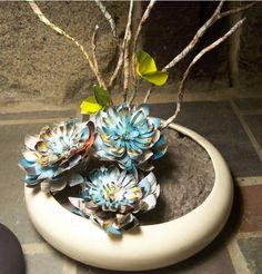 ikebana...I think the flowers are created from paper