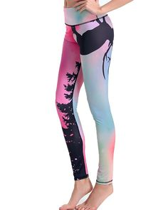 Amazon.com: Mintsnow Womens Long Yoga Pants Capri Colorful Printed Athletic Running Leggings: Sports & Outdoors