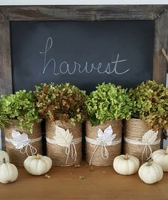 Fall Decorating Ideas - how to make this very budget friendly fall vignette!