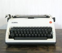 Vintage Olympia SM 8  Portable Manual Typewriter by CanemahStudios
