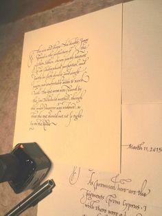 Italic handwriting. Georgia Angelopoulos