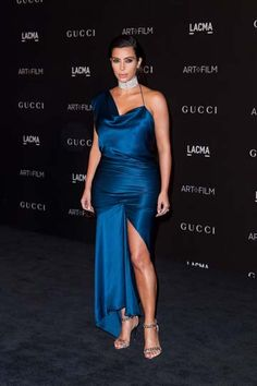 Kim Kardashian flaunted her famous curves in a Cushnie et Ochs gown and a Cartier choker at the LACMA Gala.