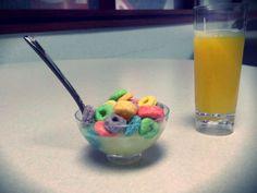 Balanced breakfast of Fruit Loops Jello shots and a screwdriver.    #Jello #Jelloshots #FruitLoops #Kellogs