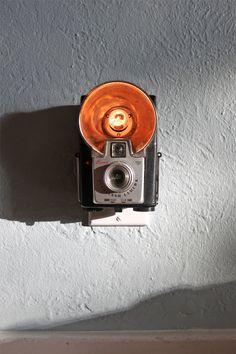 Vintage cameras as nightlights