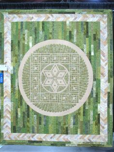 Crop Circle: Woolstone Hill by Joanne Shapp, exhibited at the Vermont Quilt Festival 2012