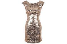 Delia's open back bodycon gold glitter prom dress !!$40!!