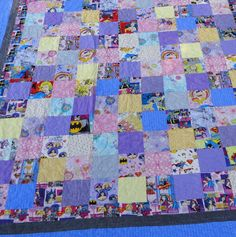 Full size super girl quilt by 4quiltsandmore on Etsy