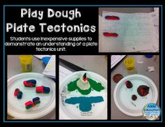 Plate Tectonics With Play Dough - Blog post about using play dough in a plate tectonics unit.