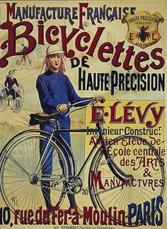 old retro vintage Bicycle poster
