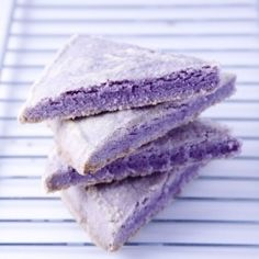 Lavender purple shortbread - oh wow!