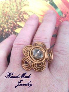 Aluminum WIre Ring por HmShop en Etsy, £4.00 www.facebook.com/HandMade.HechoaMano