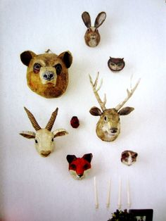 paper mache heads - too cute