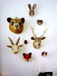 paper mache heads - too cute