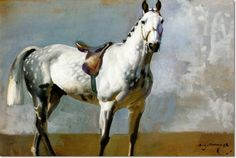 Alfred J Munnings - Alfred James Munnings - The Grey Horse Painting