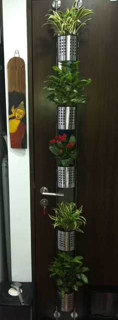 Lacking in space or the proper climate, but still want that herb garden? - IKEA Hackers: Vertical garden for small plants or herbs