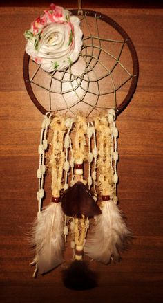 Cowgirl Boho dream catcher, shabby chic, native american, metaphysical, new age