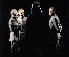 Darth Vader, Tarkin, Motti, and Tagge