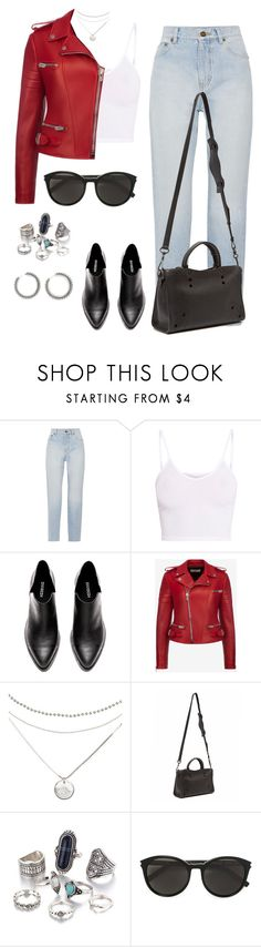 """""""Untitled #2034"""" by luxaragon-la ❤ liked on Polyvore featuring Yves Saint Laurent, BasicGrey, Bally and Balenciaga"""
