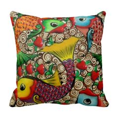 Colored Fish Cushion Pillow