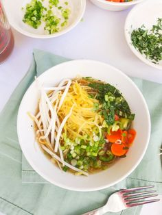 Vegan spaghetti squash pho recipe, with squash instead of noodles in this veganized Vietnamese classic soup.