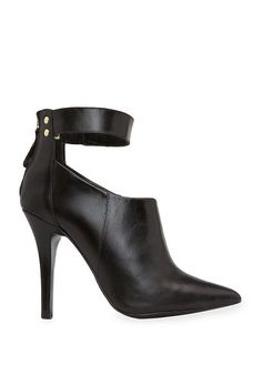 MANGO / Leather strap ankle boots
