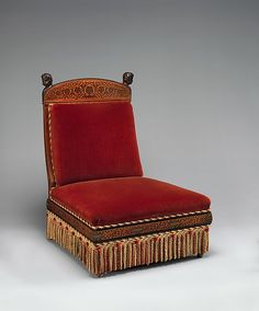 "George A. Schastey & Co. (1873–97). Chair from the William Clark House, Newark, New Jersey, 1881-2. The Metropolitan Museum of Art, New York. Collection of Marco Polo Stufano and the Late John H. Nally | This work is featured in the ""Artistic Furniture of the Gilded Age"" exhibition, on view through May 1, 2016. #GildedAgeFurniture"